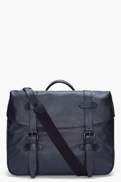 Givenchy Black Leather Messenger Bag for Men | SSENSE