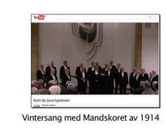 """Nok ein sang om havet Mandskoret med Vamp låt. Se hele sangen på YouTube https://youtu.be/U5wepMWV1ec """"Nok ein sang om havet"""" er på Vamps """"Siste stikk"""" med tekst av Ingvar Hovland, musikk Øyvind Staveland  Arrangert for Mandskoret av 1914 av Jonas Romme. Dirigent Susanne Helgeland."""