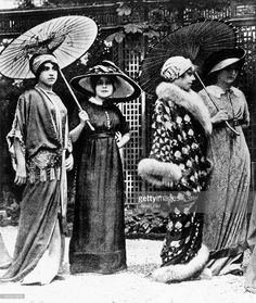 Paul Poiret Designs, 1910. Poiret came from a textile trader family. In 1901 Poiret joined the house of Worth.
