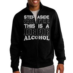 Zepu Mens Sweatshirt Step Aside Coffee Cup Mug Funny Slogan Fullzip Hoodie Jacket XXL Black * Read more reviews of the product by visiting the link on the image.(This is an Amazon affiliate link)