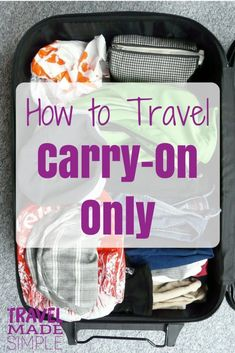 Carry-on only is a great way to travel. It can save money, you'll have less stuff to lug around, and no worries about lost luggage. packing tips Best Carry On Luggage, Carry On Packing, Packing Tips For Vacation, Travel Packing, Budget Travel, Luggage Packing, Vacation Travel, Family Travel, Travel Deals