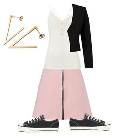 """""""Little bo emo"""" by momma2theking ❤ liked on Polyvore featuring Stephanie Bates, Boohoo, Diane Von Furstenberg, Converse, WithChic and BERRICLE"""