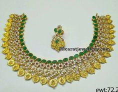 CZ Emerald Necklaces - Jewellery Designs
