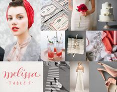 Mood: urban festive  Palette: ruby red, grapefruit, blush, pale gray, winter white