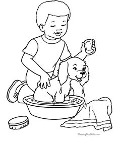 coloring pages of dogs | Dog coloring pages 002