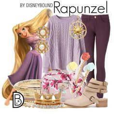 Rapunzel by leslieakay on Polyvore featuring Tommy Hilfiger, Thomas Sabo, Kate Spade and Spring Street