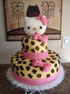 Hello Kitty Leopard Cake