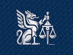 Gryphon Law Logo by Veronika Žuvić #Design Popular #Dribbble #shots