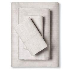 Sheet Set (California King) Etched Blocks Almond Cream 300 Thread Count - Nate Berkus