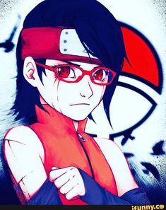 Found on iFunny Sarada Uchiha, Sasuke, Naruto, Boruto Next Generation, Cool Girl, Angel, Fun, Image, Angels