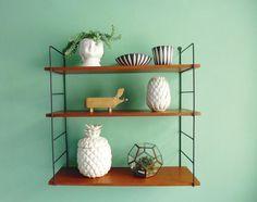 Big String shelf / Teak / Mid Century / fifties /sixties Großes Vintage String Regal 50er 60er Teak von ILoveSparrows auf DaWanda.com