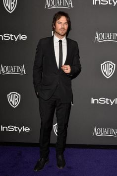 Ian Somerhalder at The Golden Globes after party redcarpet hosted by InStyle & Warner Brothers (01/11/15)