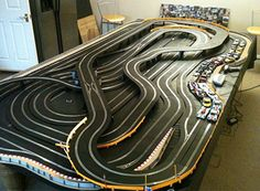 Check out these awesome slot track layouts from our customers. Slot Car Race Track, Slot Car Racing, Slot Car Tracks, Race Cars, Carrera Slot Cars, City Model, Classic Toys, Courses, Model Trains