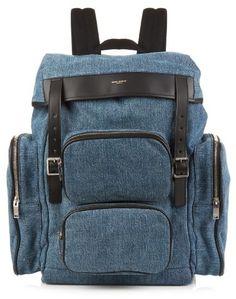 SAINT LAURENT Denim backpack - $573.00
