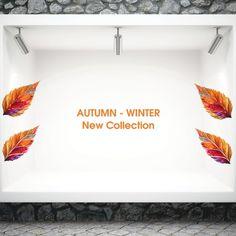 Φθινοπωρινό διακοσμητικό αυτοκόλλητο βιτρίνας New Collection Fall Winter, Collection, Home Decor, Decoration Home, Room Decor, Interior Design, Home Interiors, Interior Decorating