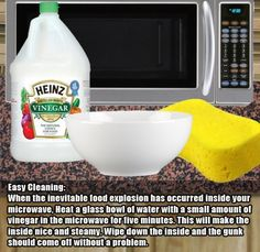 4.) In case you need to clean a disgusting microwave.