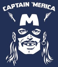 Captain 'Merica T-Shirt - Headline Shirts - Funny T Shirts - Intelligently Funny Tees