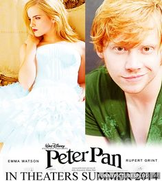 Peter pan with Rupert Grint and Emma Watson (2014) AHH! so excited!