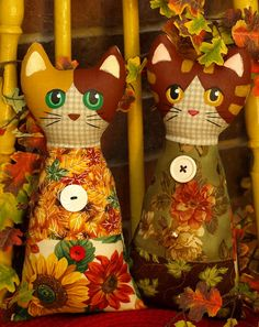 Fall Cat Softie Dolls by That's My Cat, via Flickr