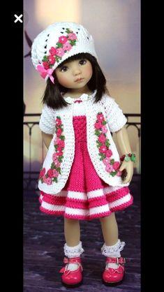 New crochet amigurumi doll clothes american girls ideas Crochet Doll Dress, Crochet Doll Clothes, Knitted Dolls, Girl Doll Clothes, Doll Clothes Patterns, Girl Dolls, Baby Dolls, American Girl Outfits, Ropa American Girl