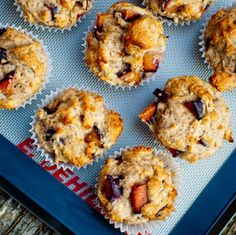 Plum Poppyseed muffins- I modified these to be gluten free by swapping out the AP flour for 1 for 1 GFflour mix and the whole wheat flour with sorghum flour. Delicious!!