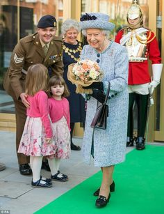 Queen Elizabeth II at the National Army Museum in Chelsea. March 17 2017