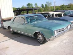 1966 Oldsmobile Delta 88 4dr HT -- mine was gold.  I miss her -- she'd pass everything on the road (except the gas stations).