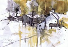 scraggly lines.: SGFA show Abstract Landscape Painting, Watercolor Landscape, Landscape Paintings, Abstract Art, Landscapes, Watercolor Pictures, Watercolor Paintings, Watercolors, Technical Illustration