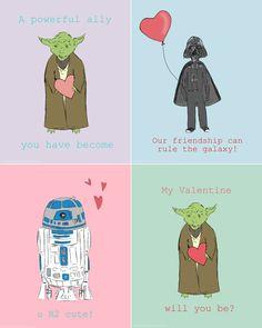 Valentine Star Wars Printable Valentine Star by LetsAllMakeBelieve, $4.00