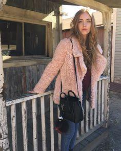 Christmas morning wearing @loversfriendsla teddy bear coat @revolveclothing #AmericanDays #RevolveAroundTheWorld #TheBlondeSaladGoesToMalibu