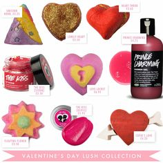 lush valentines day 2015 range❤️❤️❤️just in love with everything I tried ❤️lush