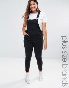 Image 1 of New Look Plus Dungarees