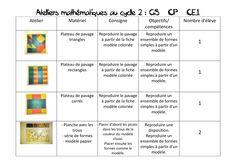 Ateliers autonomes maths GS CP CE1