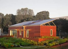 The competition held by the Department of Energy at Cornell University makes sure architects come up energy efficient homes. That's the case with the Solar Decathlon House in Ithaca, New York, where the guys from Zero Energy Design (ZED) worked their butts to meet the criteria for a zero-energy residence. The one bedroom and one bathroom home uses photovoltaic and thermal systems, rain-water recycling and water-efficient fixtures and is surrounded by a green scenery. And the interior is just…