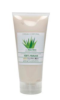 Crema corporal de Aloe Vera. 200 ml. Producto certificado 100% natural Crema corporal para todo tipo de pieles. Su alta concentración en aloe vera y aceite de jojoba da a la piel suavidad, elasticidad e hidratación en profundidad.