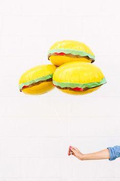 DIY Burger Balloons