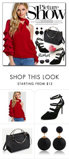 """ROMWE 6"" by woman-1979 ❤ liked on Polyvore featuring SANCHEZ"