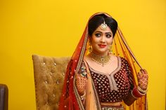 Maroon lehenga! Now THAT is a bold choice! What say? To see more of her: http://www.functionmania.com/blog/truestory-dreamy-wedding-anjali-divey/