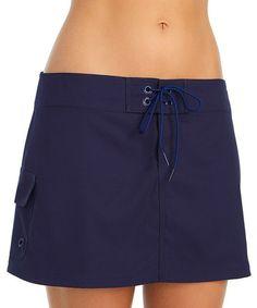 Another great find on #zulily! Navy Cargo Tie-Waist Boardskirt by Jag Swim #zulilyfinds