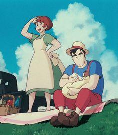 "ghibli-collector: "" Kindred Spirits In The Films Of Hayao Miyazaki - "" Hayao Miyazaki, Studio Ghibli Art, Studio Ghibli Movies, Studio Ghibli Characters, Kiki Delivery, Kiki's Delivery Service, Got Anime, Manga Anime, Ocelot"