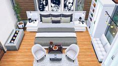 Sims 4 Family House, Sims 4 Modern House, Sims 4 House Design, Casas The Sims Freeplay, Sims Freeplay Houses, Sims 4 House Plans, Sims 4 House Building, Sims Free Play, Casas The Sims 3