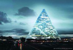 Architecture déconstructiviste telle qu'imaginée dans le film Blade Runner