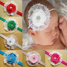 Rose Flower Hair Bows Clips Baby Headbands for Girls Big Ruffles Flower Lace Frilled And Sequins Headbands Cute Baby Hair Accessories from Smartmart,$1.02 | DHgate.com