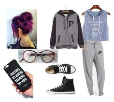 Lazy Day by thyra-dahl on Polyvore featuring Mode, Pusheen, WithChic, NIKE and Converse