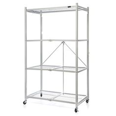 Origami Folding Organizational Rack (at HSN.com.) I love using this to organize all my bake and cookware. Looking to add one to help organize in the basement.
