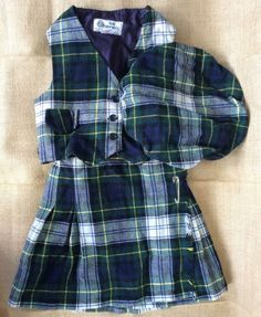 Child/Youth Kilt Vest Hat 3 Piece/Set Age 6 Plaid Pure New Wool Tartan Boy/Girl