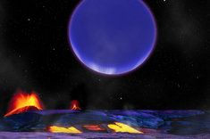 Artist's conception of alien planets Kepler-36b and c