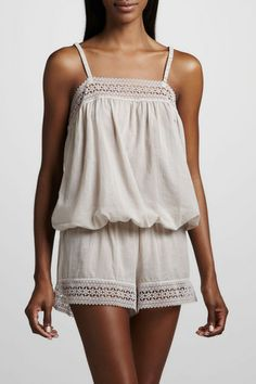 After wedding night - looks sooooo comfy!!!  Hanro Mia Short Pajamas, 225.00, available at Neiman Marcus.