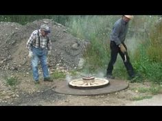 Making a Wooden Carriage wheel Pt3- BONUS at the end of this video- he tells you how to make homemade charcoal from the quality wood scraps left over and swears it makes for the best BBQing ever!!!!