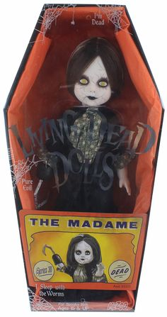 The carnival is coming to town and you don't want to miss what the Living Dead Dolls have in their tent! Mezco has scoured the furthest corners of the known world to bring to you the most horrifying,
